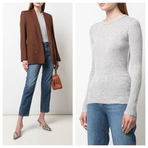 AUTUMN CASHMERE Speckled Inside out Jumper Sweater